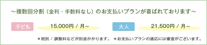 毎月の調整料0円